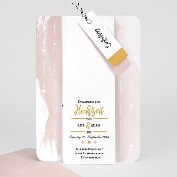 Elegante Hochzeitskarten  - Boho Aquarell - 0