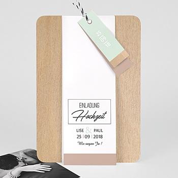 Hochzeitskarten Vintage  - Holz & Pastell - 0