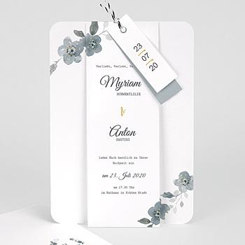 Elegante Hochzeitskarten  - Botanisches Blau - 0