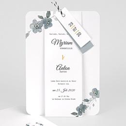 Karten Hochzeit Botanisches Blau