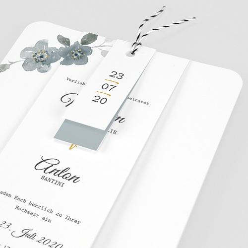 Elegante Hochzeitskarten  - Botanisches Blau 58074 thumb
