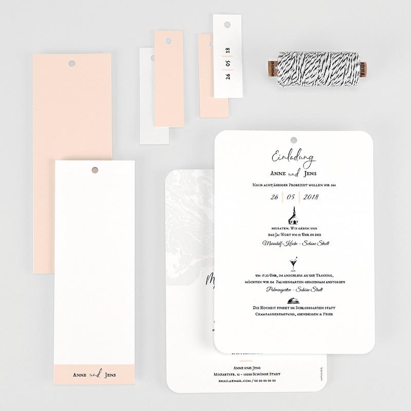 Kreative Hochzeitskarten Mamor & Pastell gratuit