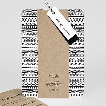 Kreative Hochzeitskarten - Kraftpapieroptik - 0
