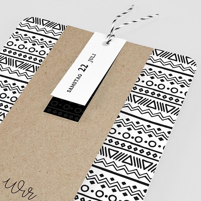Kreative Hochzeitseinladungen Kraftpapieroptik pas cher