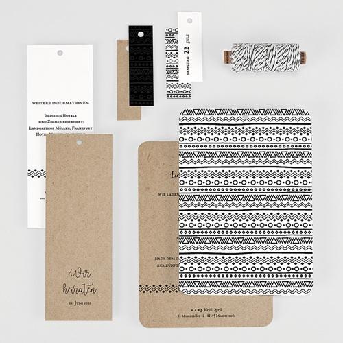 Kreative Hochzeitseinladungen Kraftpapieroptik gratuit