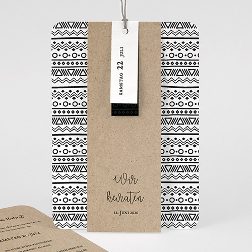 Kreative Hochzeitseinladungen Kraftpapieroptik
