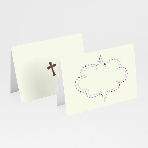 Tischkarten Taufe - Zufriedenheit 5815