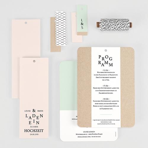 Kreative Hochzeitseinladungen Pastel & Neutral gratuit