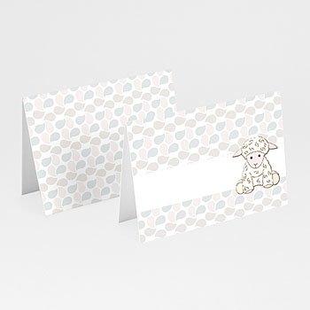 Tischkarten Taufe - Taufkarte Schäfchen - 1