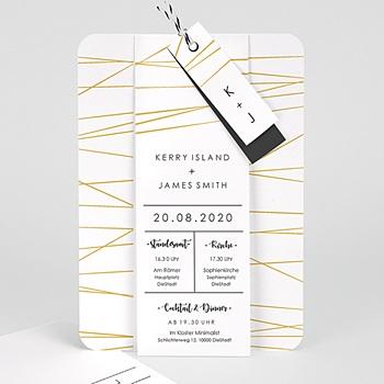 Goldprägung Einladungskarten Hochzeit   Minimal Chic   0
