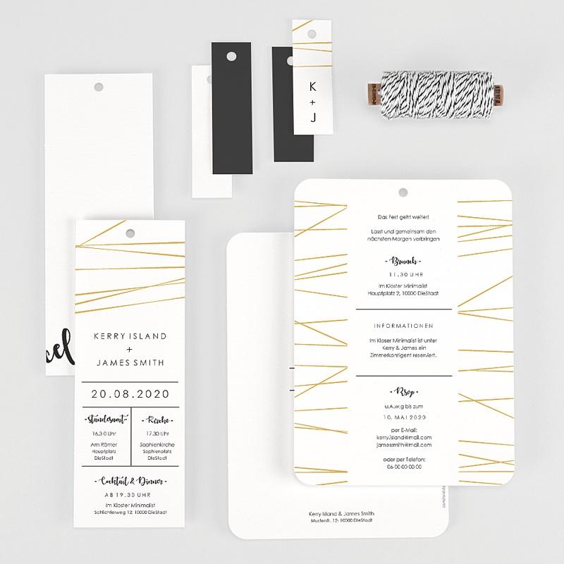 Hochzeitseinladungen Minimal Chic gratuit
