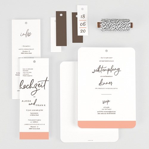 Hochzeitseinladungen Color Touch gratuit