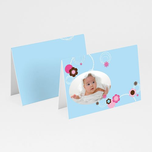 Tischkarten Taufe - Tischkarte Viola 5823