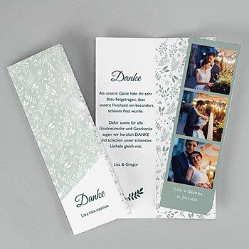 Stilvolle Danksagung Hochzeit Pastell & Aquarell