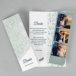 Danksagungskarten Hochzeit Pastell & Aquarell