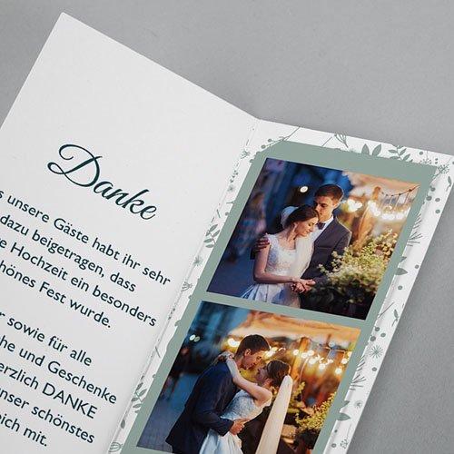 Elegante Dankeskarten Hochzeit Pastell & Aquarell pas cher