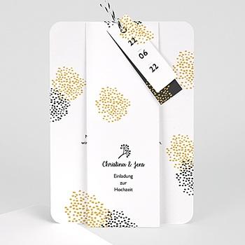 Elegante Hochzeitskarten  - Tusche & Punkte - 0
