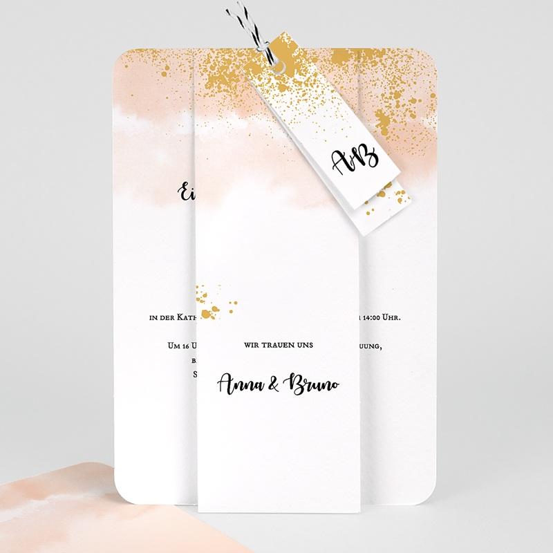 Kreative Hochzeitseinladungen Aquarell trifft Gold