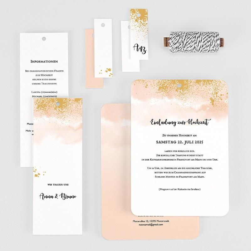 Kreative Hochzeitseinladungen Aquarell trifft Gold gratuit