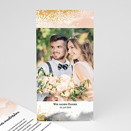 Danksagungskarten Hochzeit Aquarell trifft Gold