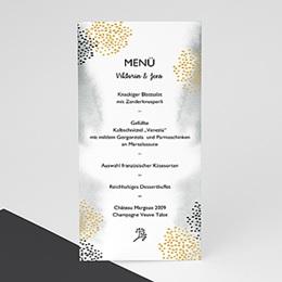 Menükarten Hochzeit Tusche & Punkte