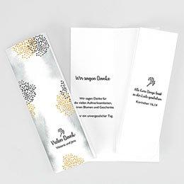 Danksagungskarten Hochzeit Tusche & Punkte