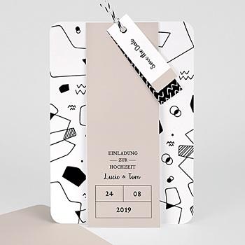 Kreative Hochzeitskarten - Abstrakte Formen - 0