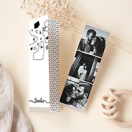 Kreative Dankeskarten Hochzeit  Abstrakte Formen