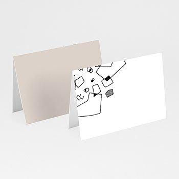 Tischkarten Hochzeit - Abstrakte Formen - 0