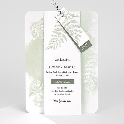 Einladungskarten Landhochzeit - Farngrün 58404 thumb
