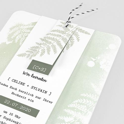 Einladungskarten Landhochzeit - Farngrün 58405 thumb
