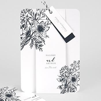 Einladungskarten Hochzeit  - Skizze Floral - 0