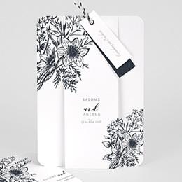 Einladungskarten Hochzeit  Skizze Floral