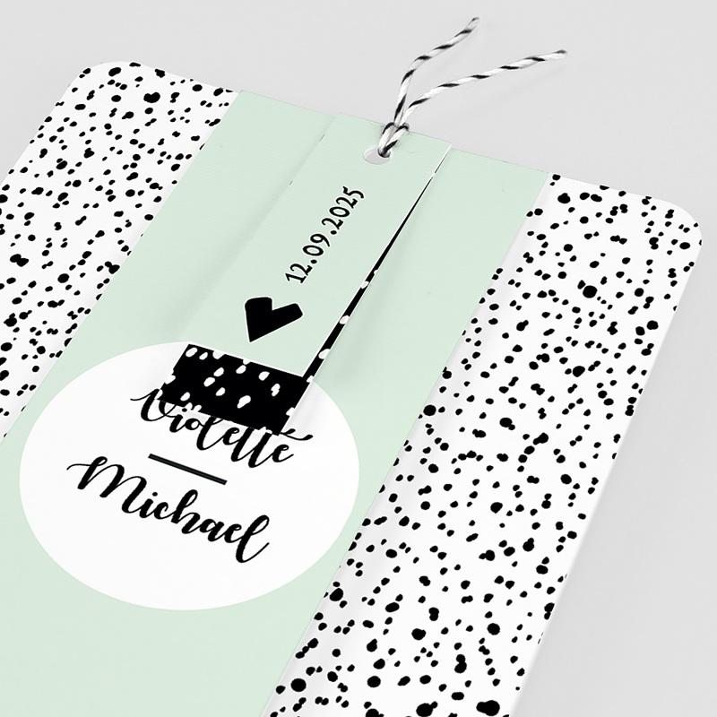 Kreative Hochzeitseinladungen Grafik Love pas cher