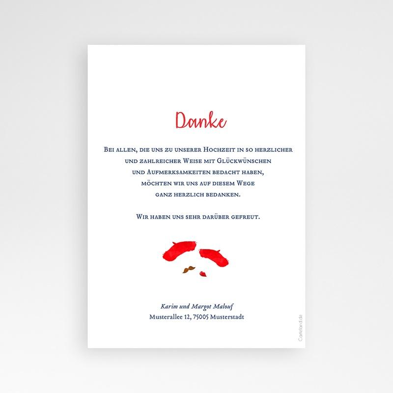 Originelle Dankeskarte Hochzeit  So french pas cher