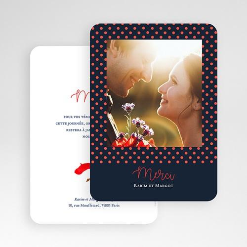 Dankeskarten Hochzeit mit Foto So french gratuit