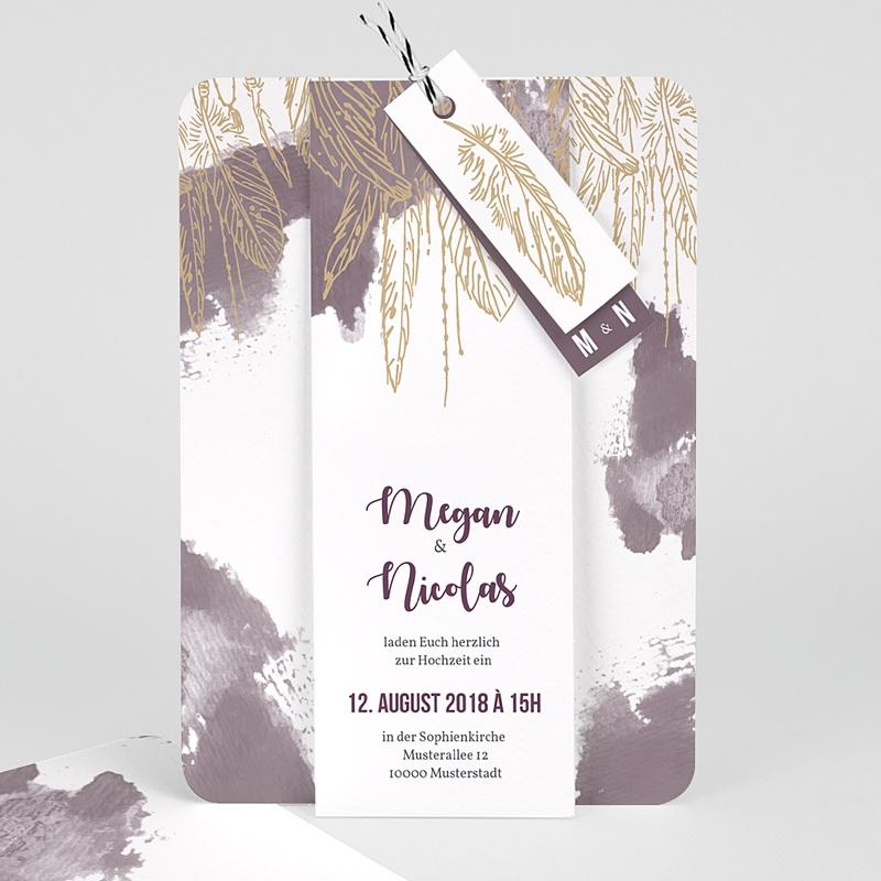 Einladungskarten Hochzeit  Heart Wood