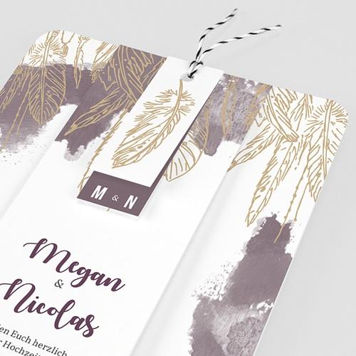 Einladungskarten Hochzeit  Heart Wood pas cher