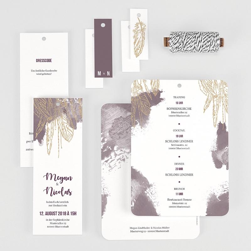 Einladungskarten Hochzeit  Heart Wood gratuit