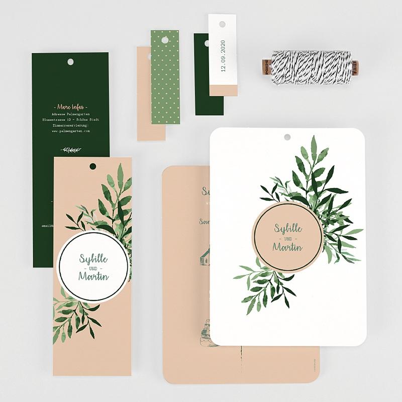 Einladungskarten Landhochzeit - Botanisches Grün 58559 thumb