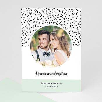Dankeskarten Hochzeit mit Foto - Grafik Love - 0