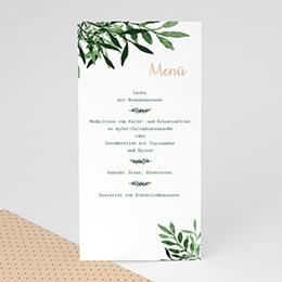Menükarten Hochzeit  Botanisches Grün