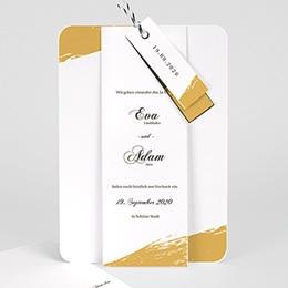 Karten Hochzeit Brush Gold