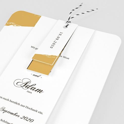 Klassische Hochzeitskarten  Brush Gold pas cher
