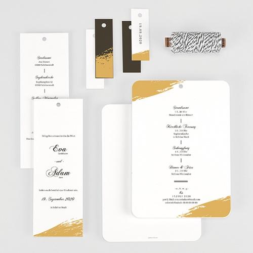 Klassische Hochzeitskarten  Brush Gold gratuit