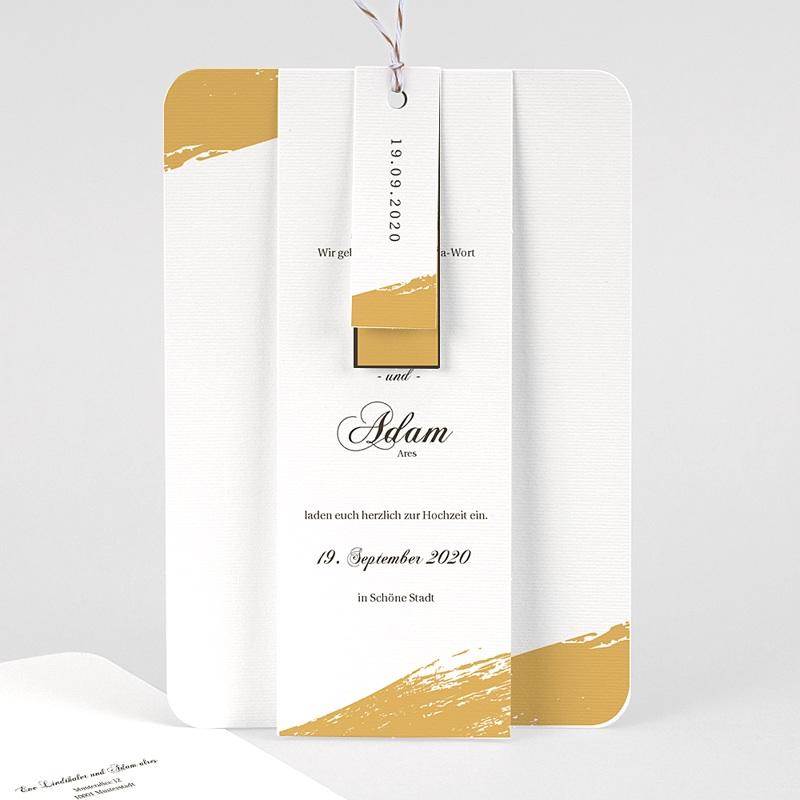 Klassische Hochzeitskarten  Brush Gold