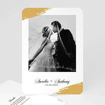 Klassische Dankeskarten Hochzeit  - Brush Gold - 0