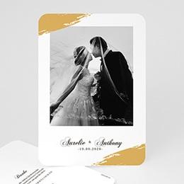 Danksagungskarten Hochzeit Brush Gold