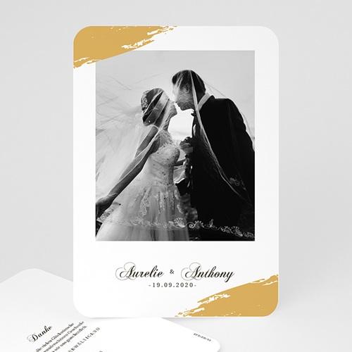 Klassische Dankeskarten Hochzeit  - Brush Gold 58672 thumb