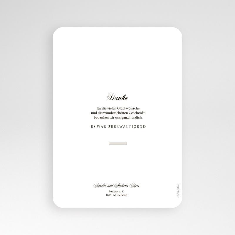 Klassische Dankeskarten Hochzeit  - Brush Gold 58673 thumb